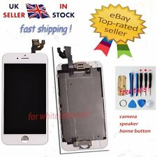 For iPhone 6 White Replacement Front LCD Touch Screen with Home Button Camera UK