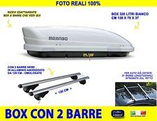 Box tetto portatutto per Saab 9-3 X dal 2009>2013 bianco con barre 120 kit in l
