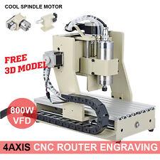 4 AXIS 3020 800W CNC ROUTER ENGRAVER 3D ENGRAVING MILLING MACHINE DESKTOP+MACH3
