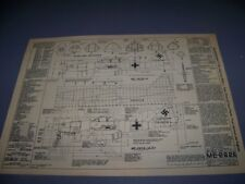 VINTAGE..MESSERSCHMITT ME 262A HISTORY...STRUCTURE/CROSS SECTIONS..RARE! (968Q)