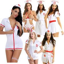Sexy Para mujeres Vestido de uniforme Nurse doctor Lencería Cosplay Disfraz Traje Ropa de club