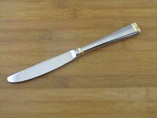 "Gorham Column Gold Dinner Knife 9 1/8"" Stainless Flatware Silverware Accent"