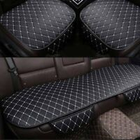 3Pcs Univeral Car Seat Cover Car Non-slip PU Leather Cushion With Storage  U