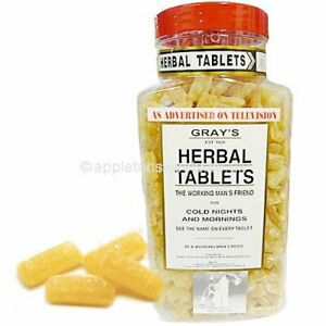 SWEETS GRAYS HERBAL TABLETS BOILED SWEETS JAR NOT INCLUDED  CHEAPEST ON EBAY