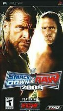 VERY CLEAN PSP -- WWE SmackDown vs. Raw 2009 Featuring ECW (Sony PSP, 2008)