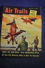 1952 Air Trails Magazine *USAF Racer*PB-2A*Lockheed F94*Swedish Copter*