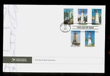 USA #4146-50 2007 41c Pacific Lighthouses StampsFirst Day Ceremony Program