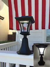 Bright LEDs Solar Powered Fence Gate Lamp Post Light Outdoor Garden Yard