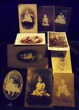 Antique Baby Children 10 Photos Cabinet Cards Children & Baby Antique Photos