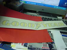 Good Year  sponsor  sheetmetal decal for Nascar teams  yellow w/ blue trim