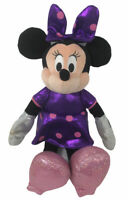 "Disney TY Sparkle Metallic Purple Minnie Mouse 13"" Plush"