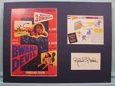 """3-D Movies - """"Bwana Devil"""" starring Robert Stack & his autograph"""