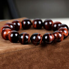 6mm Natural AAA+ Red Tiger Eye Stone Round Beads Stretchy Bracelet Jewelry 7.3""