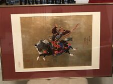 "Japanese Original ""Tales Of The Genji� Hand Painted, Signed And Prof. Framed"