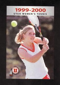 Utah Utes--1999-00 Tennis Pocket Schedule