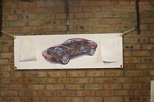 PORSCHE 928 PVC rosso grande lavoro Negozio Banner Garage CAR SHOW Banner
