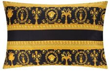 Versace Baroque Medusa Queen Size Pillow Case 2 pieces Set - Black