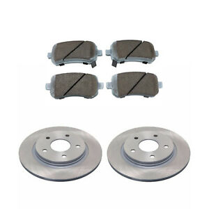 2X REAR BRAKE DISC AND PAD SET FOR CHRYSLER GRAND VOYAGER RT 2008-2012