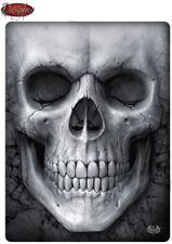 Spiral Direct SOLEMN SKULL Fleece Blanket/Gothic/Xmas Gift/Reaper/Throw Blanket