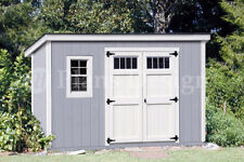 Shed Plans, 6' x 12'  Modern #D0612M, Material List & Step-by-step instructions