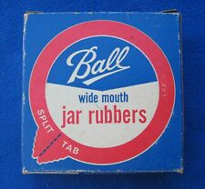 12 vintage Ball Canning Jar WIDE MOUTH Rubbers with Split Tabs, in original box