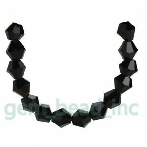 8mm Bicone Crystal Glass Loose Beads Jewelry Findings Charms 20/50Pcs