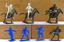 Dulcop Zorro Set 60mm plastic toy soldiers - horses & mounted lancer colors vary