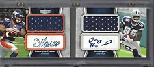 DEZ BRYANT DEMARYIUS THOMAS 2010 UNRIVALED ROOKIE DUAL JERSEY AUTO BOOK RC /10