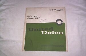58,59,60,61,62  CHEVROLET  POWERGLIDE  GASKET  SET   NOS --Check  This Out--