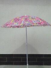 Sonnenschirm Strandschirm Campingschirm mit Knicker 180 cm Rosa NEU