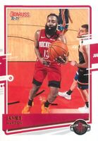 James Harden 2020-21 Panini Donruss Basketball Base Card #37 Houston Rockets NBA
