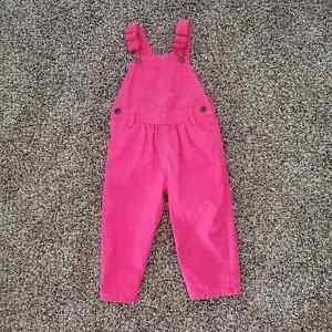 osh kosh b'gosh pink overalls 18 months