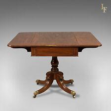 Antico, tavolo Pembroke, Regency, mogano di fiamma, inglese, pezzo di qualità c.1820