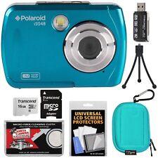 Teal Waterproof Digital Camera with 16GB Card, Mini Tripod Kit, 16GB SD Card