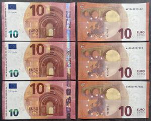 10 Euro Bill Europe Currency Money Banknote € 10 Ten Euros Original UNCIRCULATED