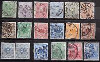 Deutsches Reich ex. Kat. 39-57 used / MNH ** / MH * 1880/1900 Kat. 20 Euro