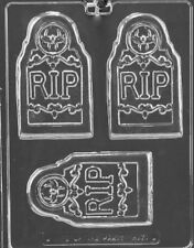 H171 R.I.P. Tombstone Bar Halloween Chocolate Candy Soap Molds w/Instructions