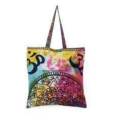 New Shoulder Bag Women's Beach Towel Bags Cotton Tie Dye Om Mandala Throw Indian