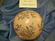 Chinoiserie Vase Pink & Blue Flowers & Petals with Gold Trim Made in Macau