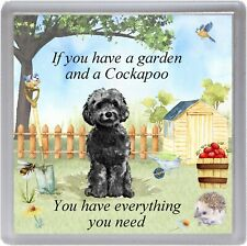 "Cockapoo Dog Coaster ""If you have a garden ......"" Novelty Gift by Starprint"