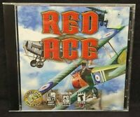 Red Ace WWI Fighter Plane Game  - PC Game CD ROM Disc, Case Near Mint Disc