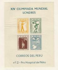 Peru, Postage Stamp, #C81a Mint NH, 1948 Olympics Sports, JFZ