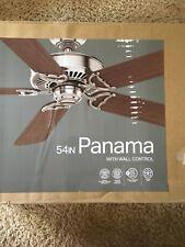"Casablanca Fan Company 55069 Panama - 54"" Brushed Cocoa, Etl Damp"