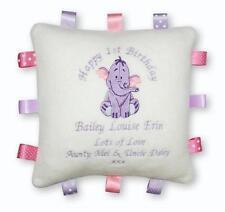 PERSONALISED Taggy Cushion  Winnie the Pooh, Eeyore, Tigger  BOY/GIRL  Baby Gift