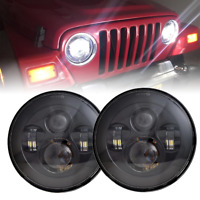 2x 7'' Inch Round CREE LED Headlights Hi/Lo for Jeep Wrangler CJ TJ Unlimited JK