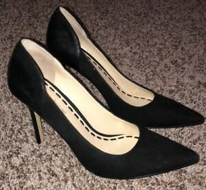 Women's~black~Suede pumps~ Enzo Angiolini~Sz. 8M~ Excellent Condition~Very sexy!