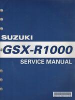2001 SUZUKI MOTORCYCLE GSX-R1000  SERVICE MANUAL P/N 99500-39210-01E (110)