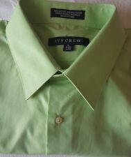 IVY CREW Men Green Long Sleeve Dress Shirt Cotton Blend 16-16.5 32/33 Large L