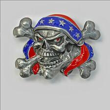 Tete de mort Skull boucle de ceinture Reaper Heavy Metal Biker Belt Buckle 149