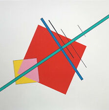 Luigi VERONESI Composizione 2 1997 rara serigrafia originale firmata 70x70cm